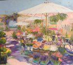 "Mediterranean Market | 36"" x 36"" | Dorothy Spangler"