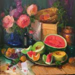 "Still Life with Watermelon | 30"" x 30"" 