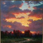 "Sunset | 36"" x 36"" | Ovanes Berberian"
