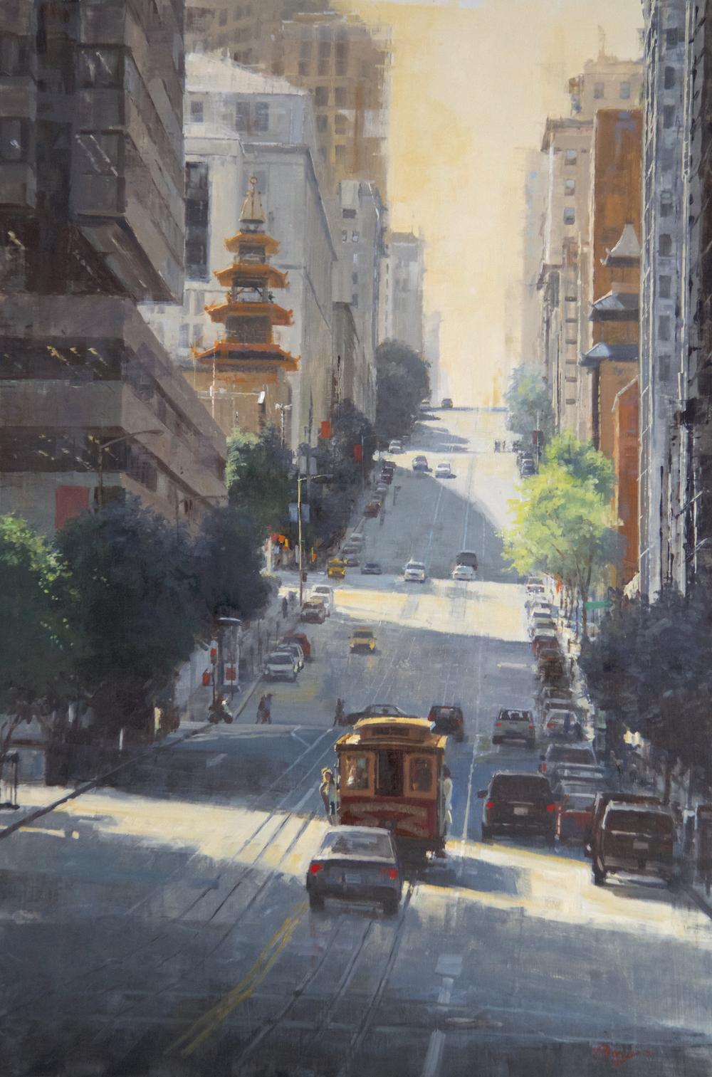 "San Fran - California Street | 60"" x 40"" | Richard Boyer"