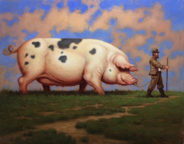 "Porky's Path | 16"" x 20"" 