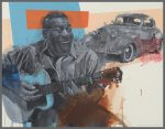 "Howlin Wolf's 1938 Cadillac Blues | 45"" x 60"" 