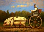 "Piggyup! | 18"" x 24"" 
