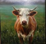 "Cow's Gaze   12"" x 12""   Regina Lyubovnaya"