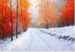 "Snow in Autumn | 18"" x 26"" | Miguel Piedro"