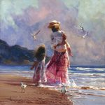 "Morning Walk on the Surf | 30"" x 30"" 