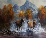 "Mustang Mountain | 20"" x 24"" 