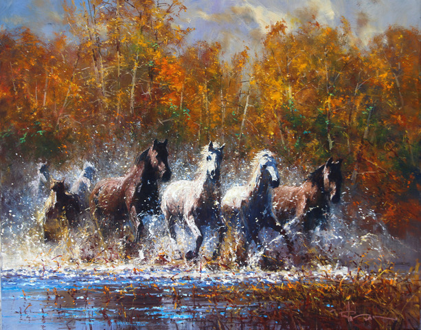 "Out of the Canyon | 24"" x 30"" 