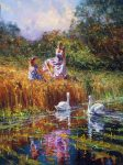 "Two Swans | 40"" x 30"" 