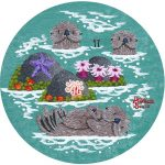 "Little Round Otters | 5"" x 5"" 