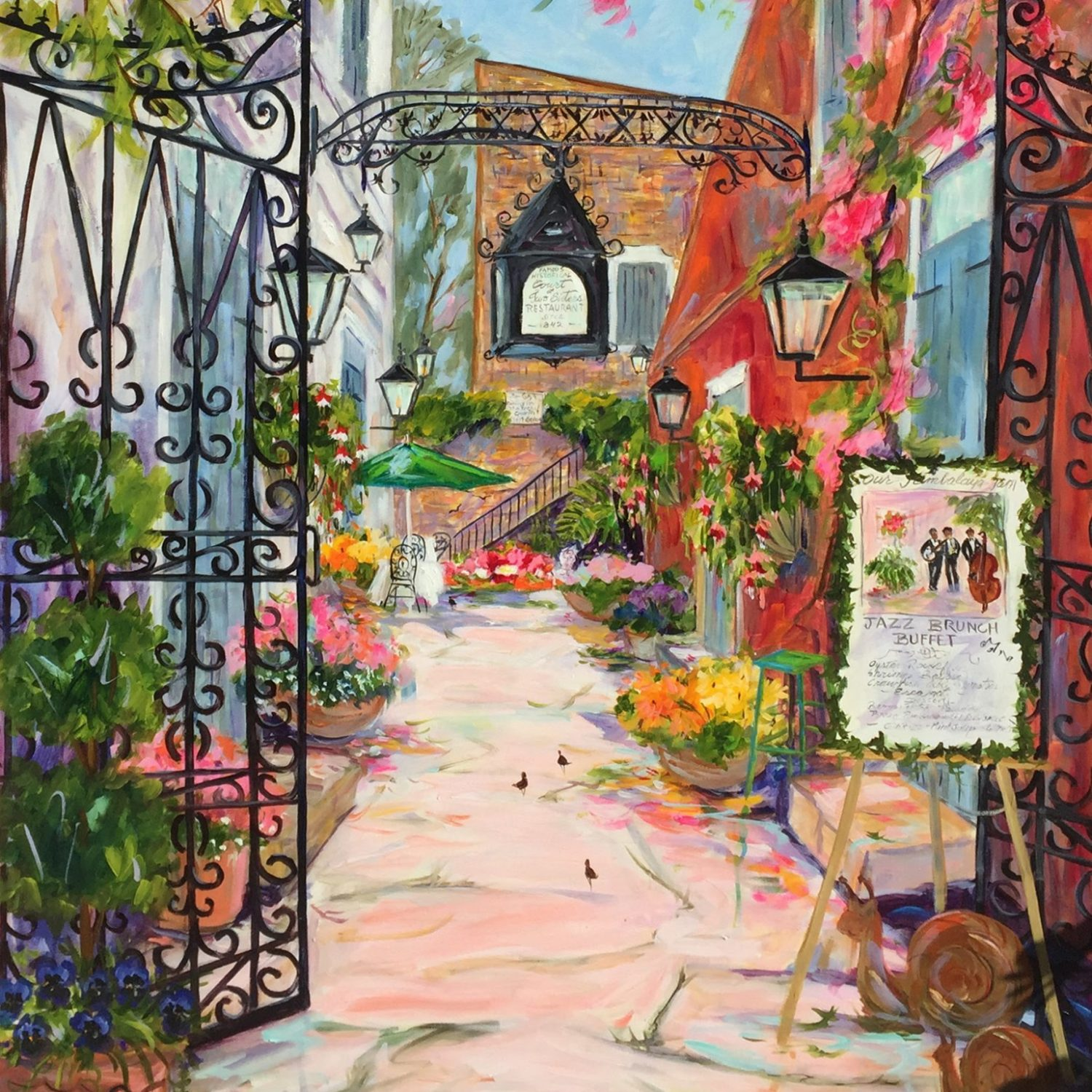 "Court of Two Sisters New Orleans | 48"" x 36"" 