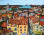 Christine Reimer |View from the Roman Coliseum at Arles | 16 x 20 | acrylic