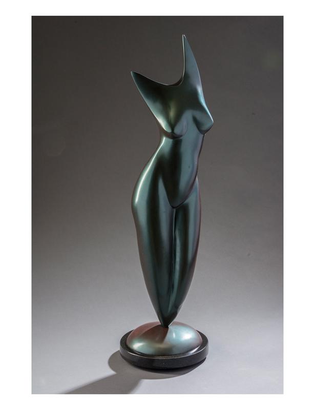 Female Figurative (torso) (front) | Bronze | Gene Guibord