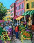 Christine Reimer | Market Day in Tarascan | 20x18 | acrylic