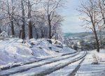 "Snowy Morning | 12"" x 16"" | Barbara Conley"