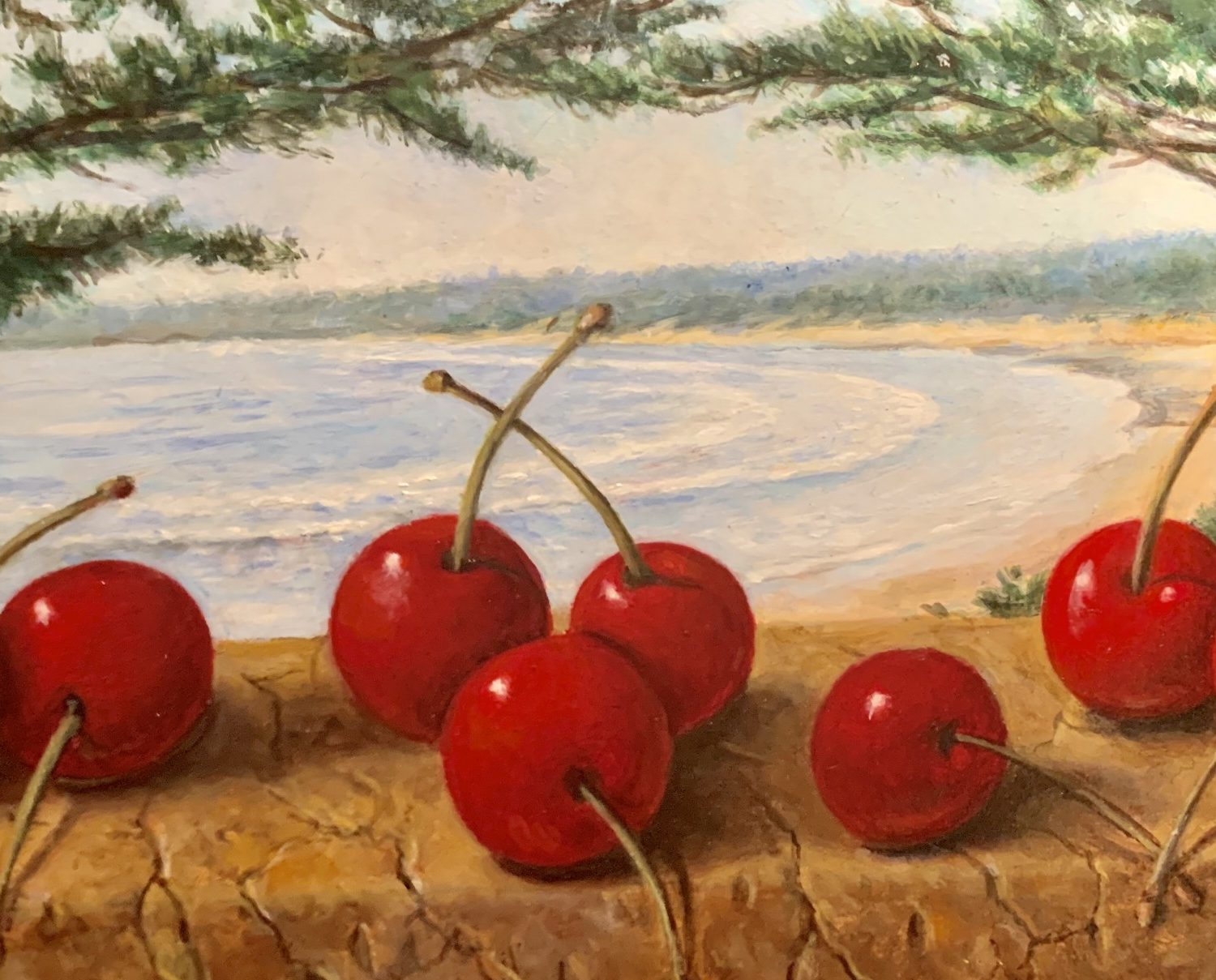 "Cherries by the Sea | 5"" x 7"" 