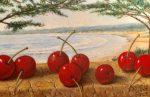 "Cherries by the Sea | 5"" x 7"" | Jared Sines"