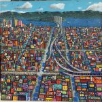 "San Francisco Skyline | 54"" x 54"" | Paul Ventura"