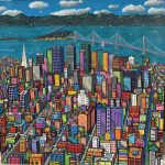"San Francisco Summer | 54"" x 54"" 