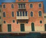 "Venetian Orange Facade | 20"" x 24"" | Ernie Baber"