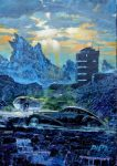"Zarkov's Ride | 18""x12"" | James Dietz"