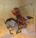 "Warrior Practicing | 16"" x 16"" | Mou-Sien Tseng"