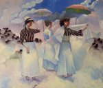 "Striped Blouses | 60"" x 72"" 