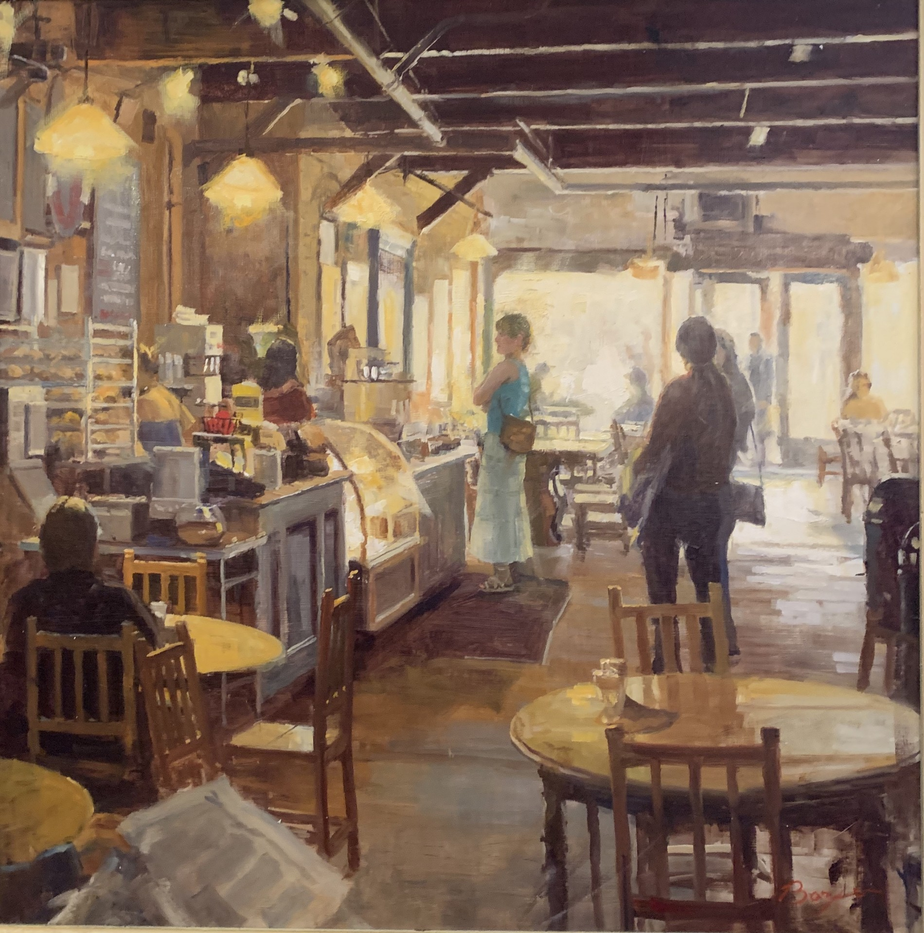 "Coffee Shop | 30"" x 30"" | Richard Boyer"