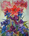 "Flower Hourglass | 24"" x 20"" | Lyuba Titovets"