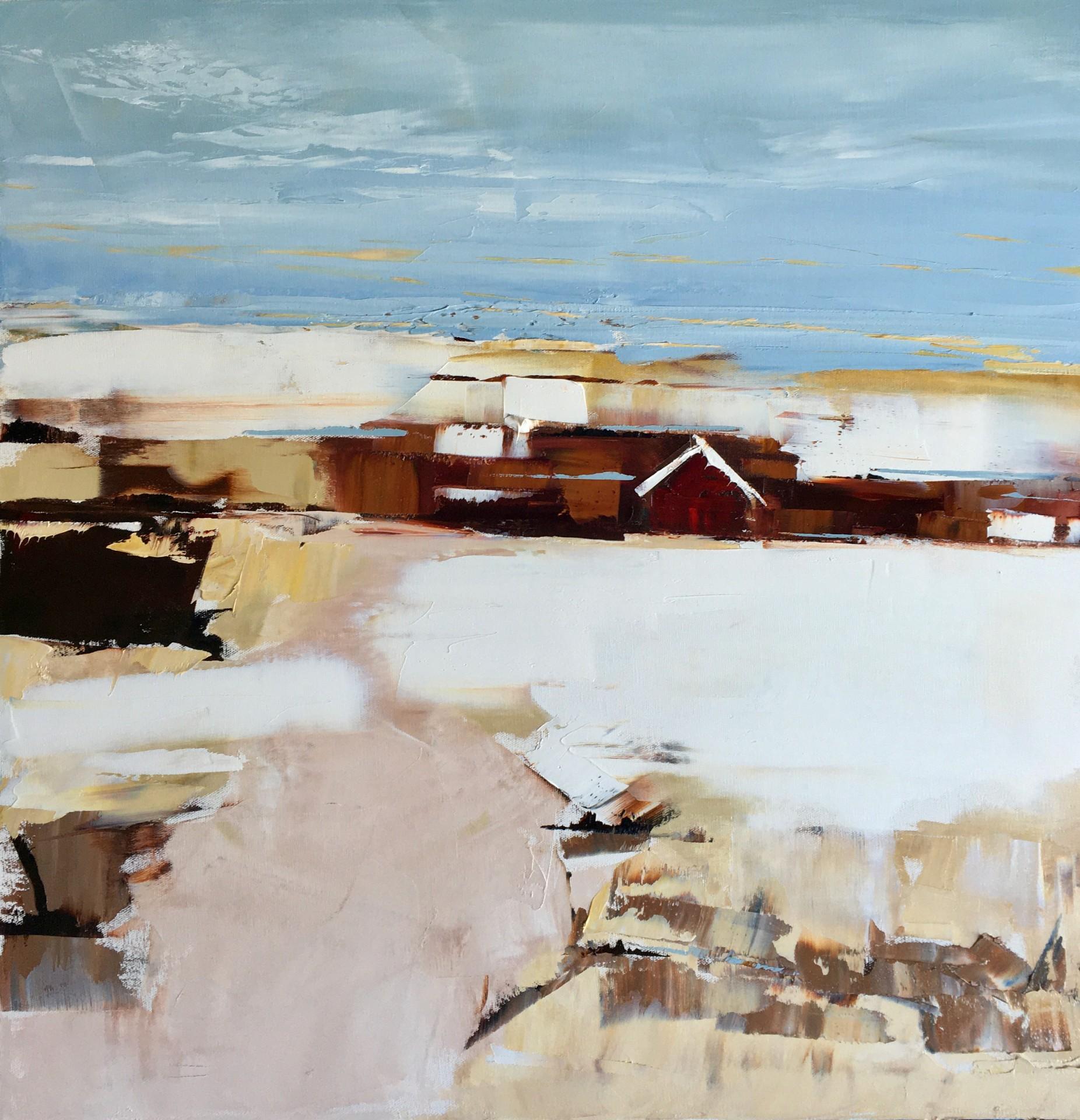 "Red House | 24"" x 24"" | Sandra Pratt"