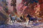 Through the Red Rocks | 24″ x 36″ | Robert Hagan