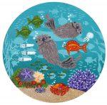 Little Round Otters 9 | 5″ x 5″ | Merry Kohn Buvia
