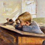 Boring Lesson | 30″ x 30″ | Vladimir Muhin