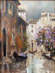 Gondolas at Rest | 16″ x 12″ | Thalia Stratton