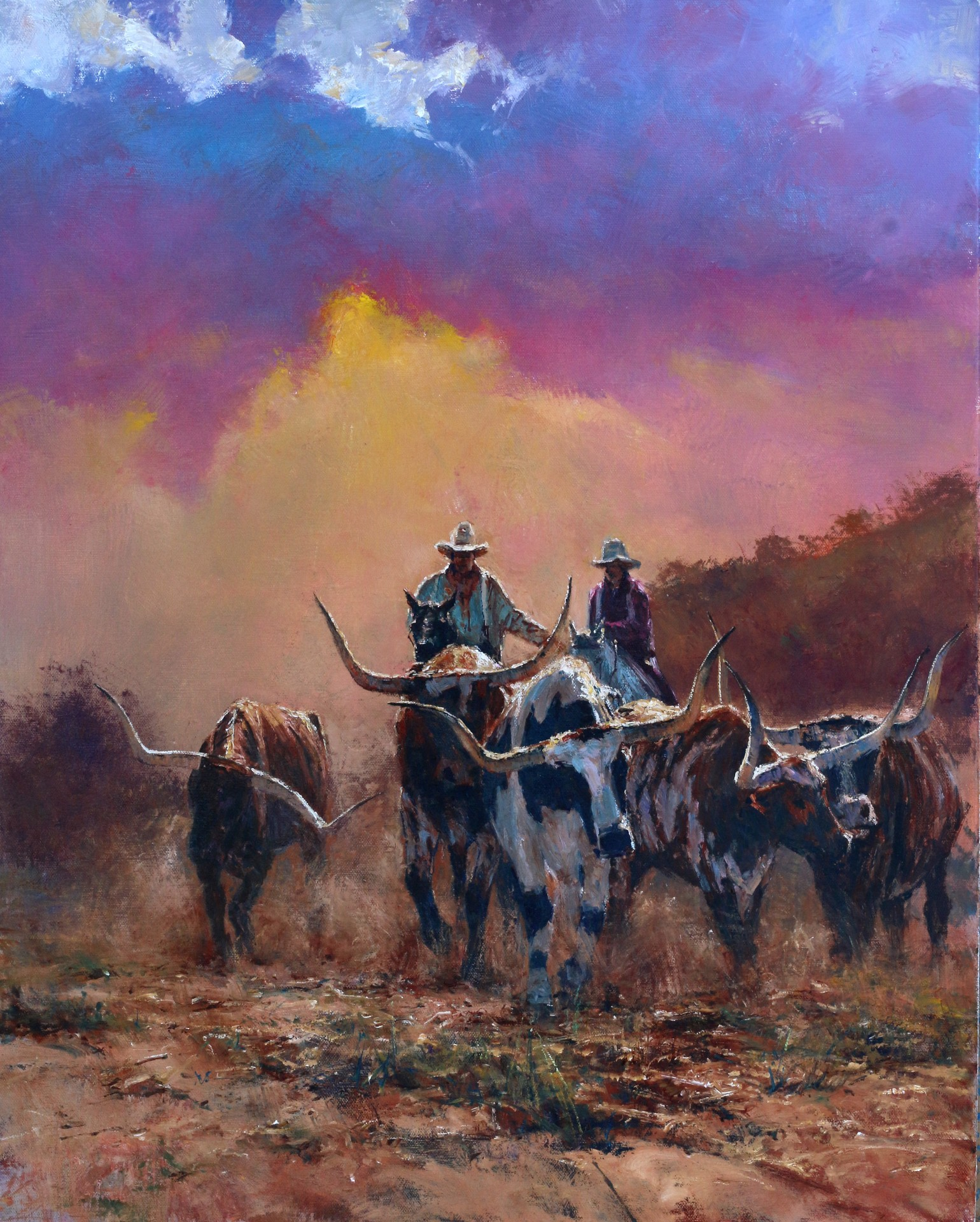 Longhorn Journey | 30″ x 24″ | Robert Hagan