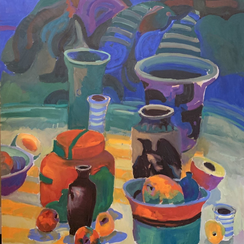 "Summer Table | 48"" x 40"" | Keith Lindberg"