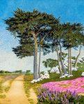 "Cypress Trees | 20"" x 16"" | Ramona Lowe"