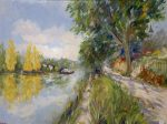 Along the Seine | 30″ x 40″ | Dorothy Spangler