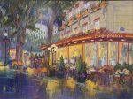 Cafe Francis | 30″ x 40″ | Dorothy Spangler