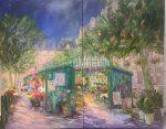 Marche Fleuri Paris | 48″ x 72″ | Dorothy Spangler