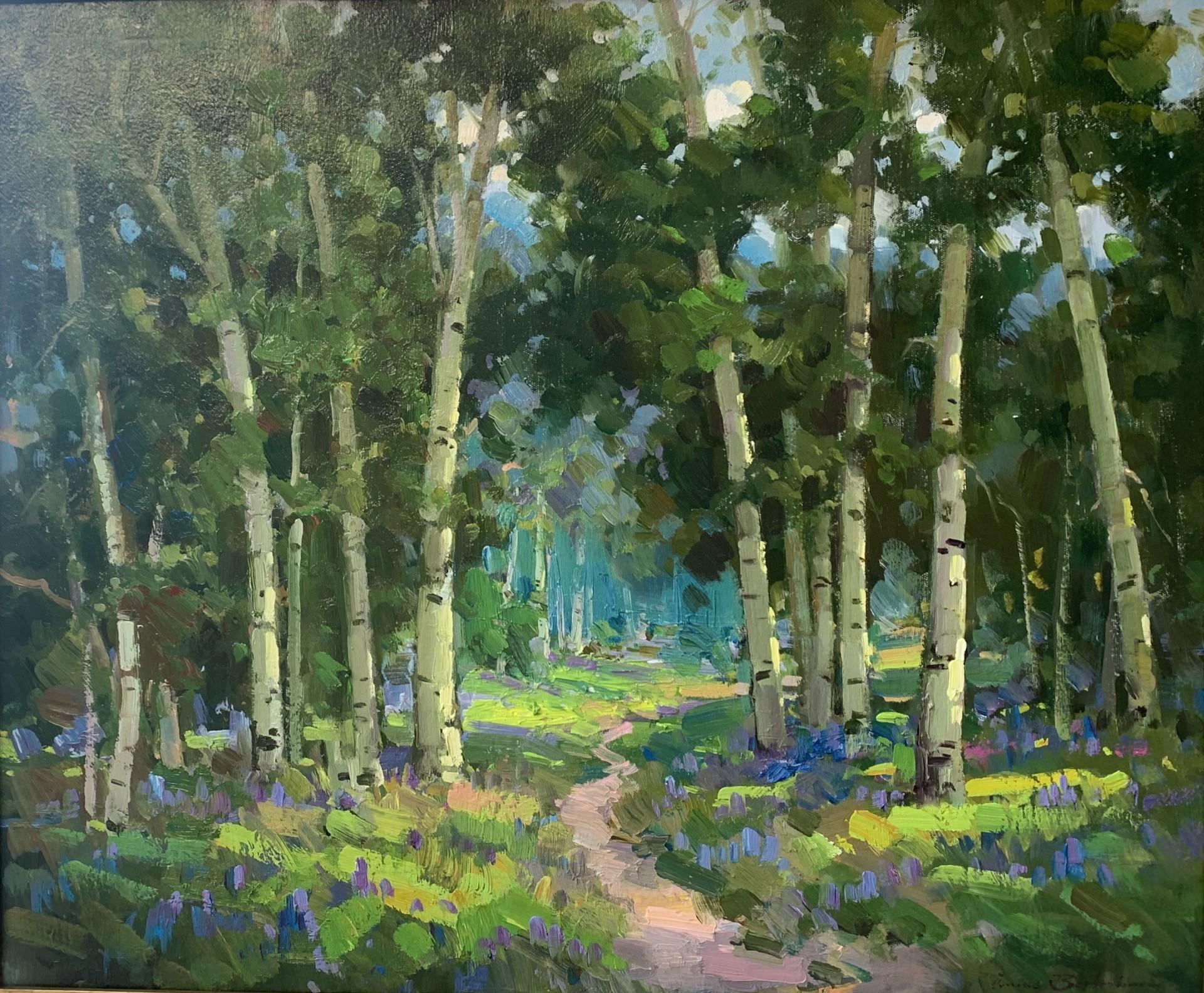 "Aspen Trees of Sun Valley | 25"" x 30"" | Ovanes Berberian"
