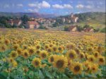 "Tournesols Francais (French Sunflowers) | 36"" x 48"" | Berberian"