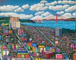 """View from Russian Hill   48"""" x 60""""   Ventura"""