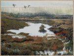 Green Wing Teal Over Elkhorn | 30″ x 40″ | Jim Miller