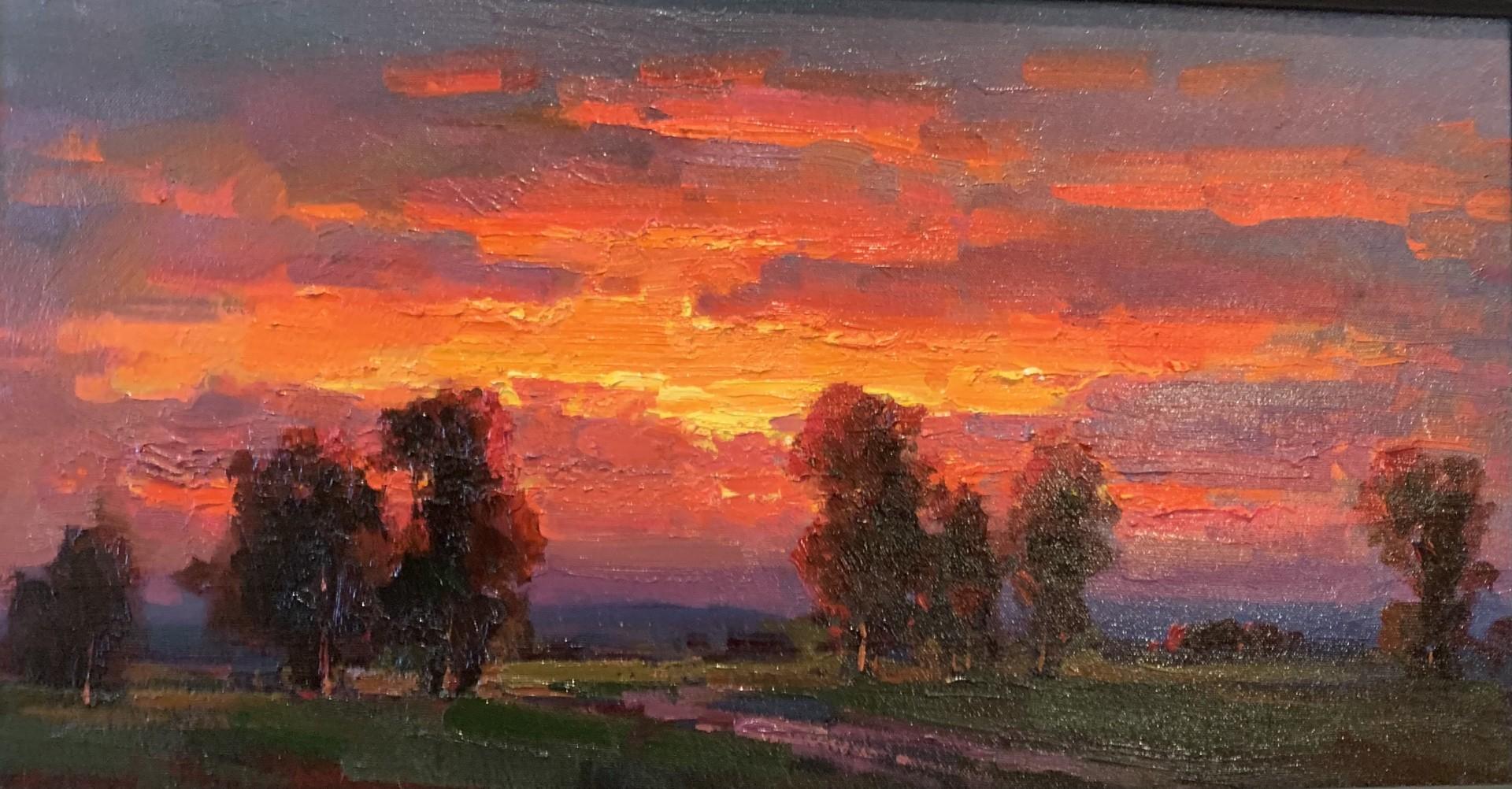 Sunset | 14″ x 26″ | Ovanes Berberian