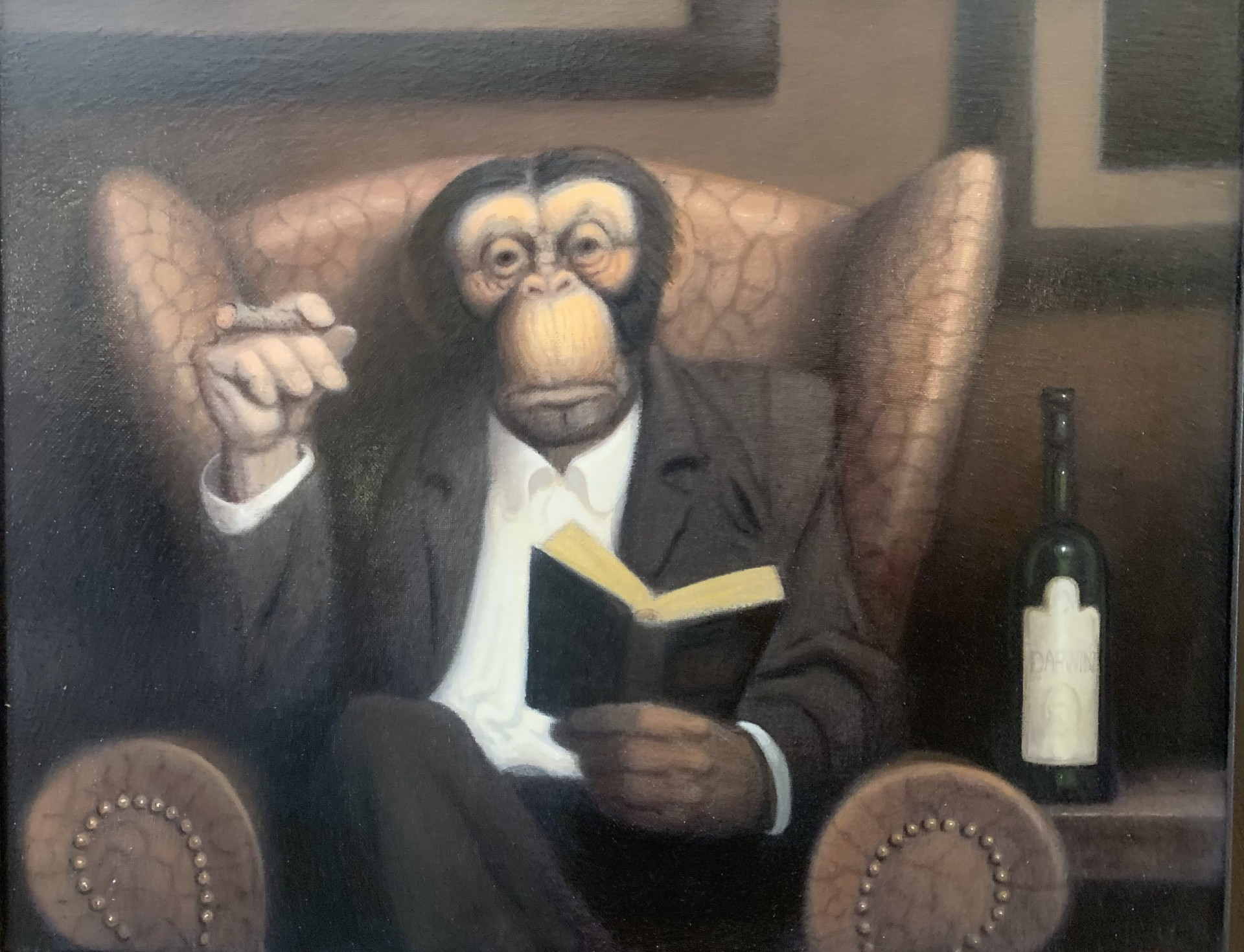 Contemplating Darwinism | 16″ x 20″ | Lithgow