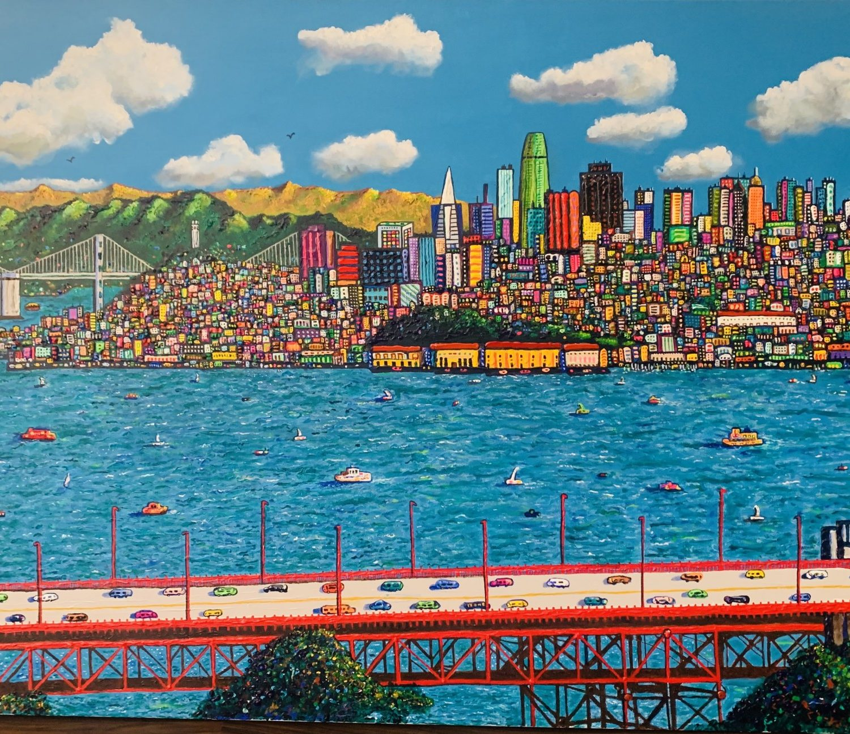 "All Ways Lead to San Francisco | 48"" x 72"" | Ventura"
