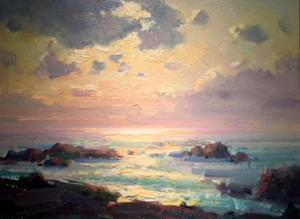 "Afternoon Light Over Pacific | 12"" x 16"" 