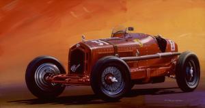 "Alfa-Monza 8c 2300 | 20"" x 38"" | Charles Maher"