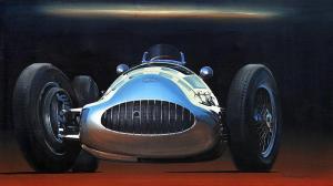 "Mercedes W154 | 25"" x 44"" | Charles Maher"